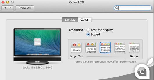 Apple adatta la risoluzione Retina di OS X agli schermi 4K. In arrivo un iMac Retina?