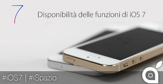 Tutte le funzioni di iOS 7 che non sono ancora disponibili in Italia