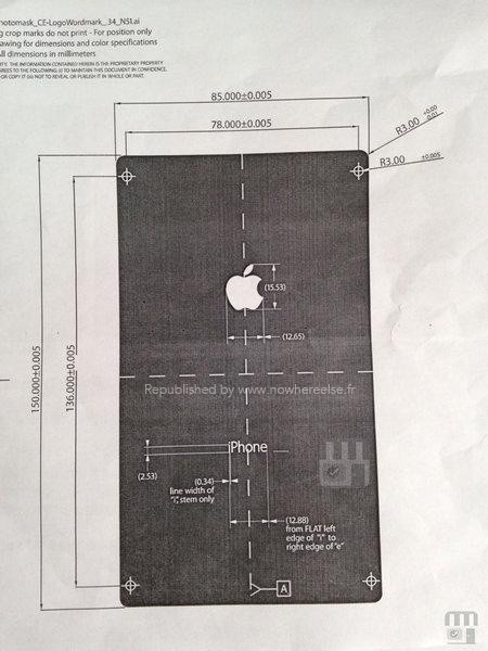 schema iPhone 6 documento leaked