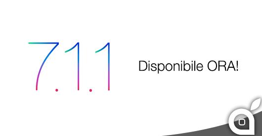 Apple rilascia iOS 7.1.1: ecco le Novità e i Link al Download