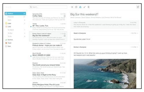 Mailbox App for mac