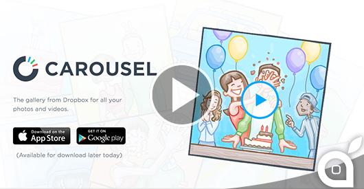 Dropbox lancia Carousel, una bella applicazione per rivivere le nostre foto in una Timeline [Video] [AGGIORNATO]