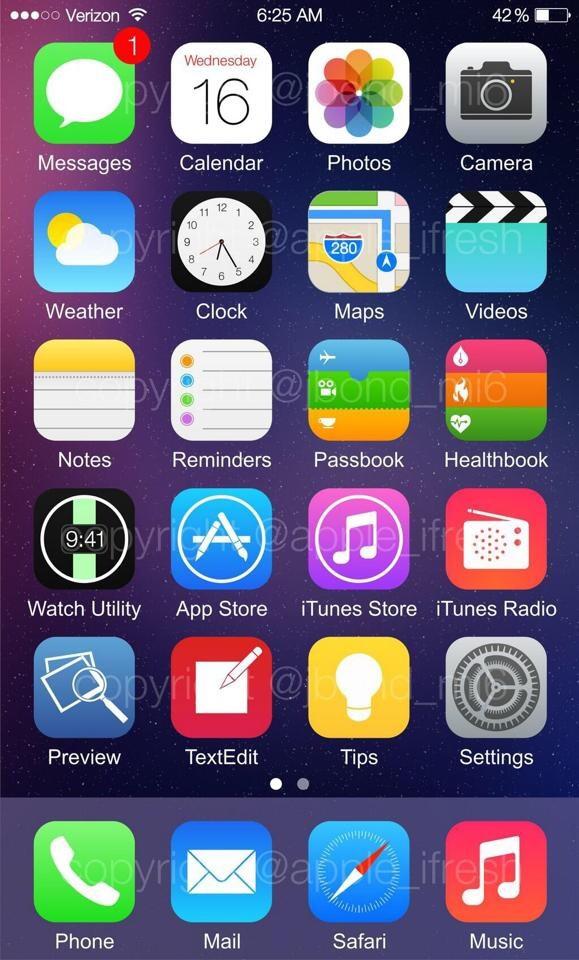 iOS 8 mostrato su iPhone 6: sarà davvero così?