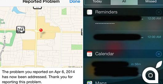 Apple abilita le Notifiche Push nell'applicazione Mappe per avvisare dei problemi risolti