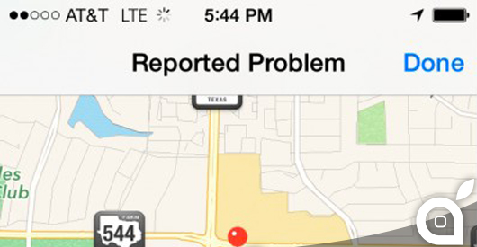 mappe-ios7-report-problem