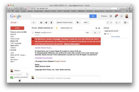 phishing apple icloud
