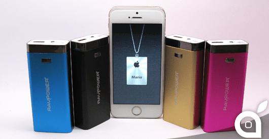 iSpazio sconta RAVPower Luster 6000: Batteria tascabile per iPhone ed iPad – La recensione di iSpazio