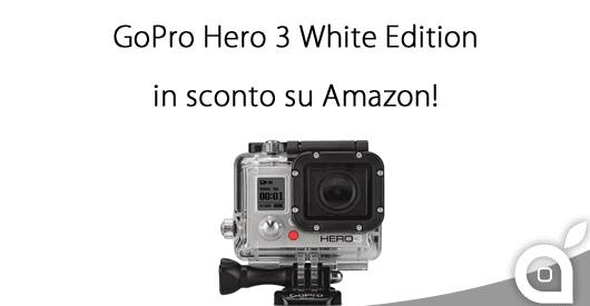 GoPro Hero 3 White Edition in sconto al 21% su Amazon!