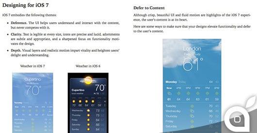 Apple pubblica su iBooks le linee guida sull'interfaccia di iOS 7