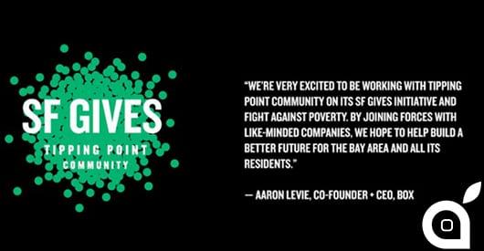 Apple dona 500.000 dollari in beneficenza alla SF Gives, associazione anti-povertà