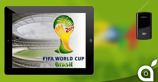 Guarda e registra i mondiali di calcio Brasile 2014 su iPhone ed iPad con Tizi+ | 10€ di sconto grazie ad iSpazio