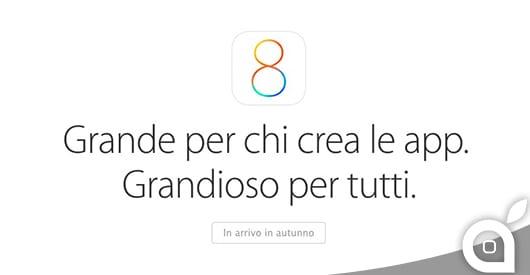 iOS 8: Sul sito Apple arriva finalmente la pagina ufficiale in italiano