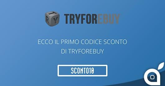 Su Tryforebuy arrivano anche i coupon sconto: Eccone uno del 10%