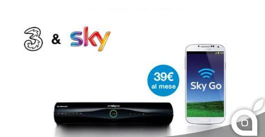 3 Italia e Sky Italia siglano accordo con tecnologia e contenuti. Ecco tutti i dettagli