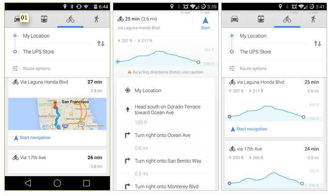 Nuovo aggiornamento di Google Maps pensato per i ciclisti