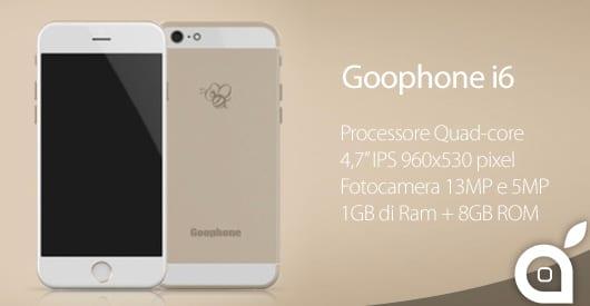 GooPhone i6: un nuovo clone dell'iPhone 6 in vendita dal 1 Agosto a soli 150$