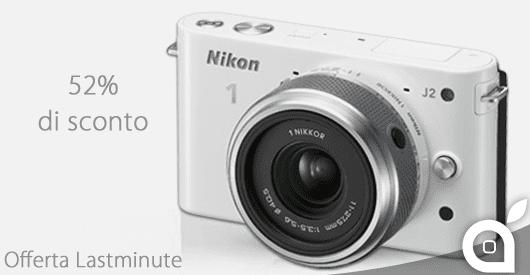 Offerta Lastminute 59% per la macchina fotografica mirrorless Nikon 1 J2 con Kit 10-30mm