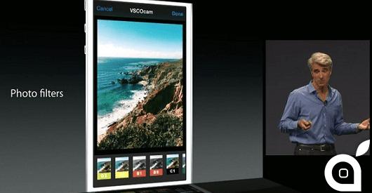 iOS 8: Grazie alle Estensioni potremo modificare le Foto con i filtri e gli strumenti delle App di terze parti