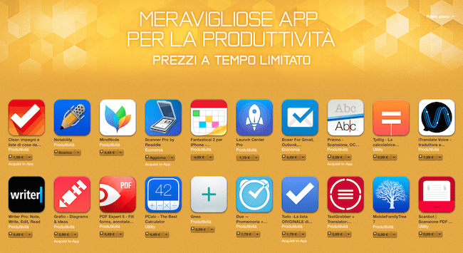Apple sconta tante app per la produttività in una nuova sezione in AppStore
