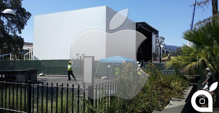 Ecco il misterioso edificio che Apple ha fatto costruire per l'evento del 9 Settembre