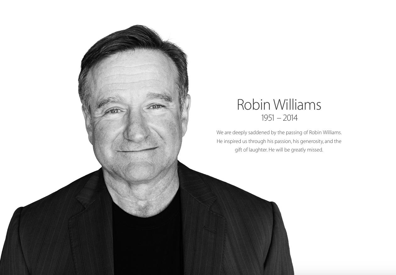 Apple commemora Robin Williams dedicandogli una pagina sul proprio sito