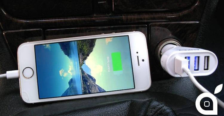 iSpazio sconta il potente caricatore da auto Aukey 48W 4 porte USB per iPhone ed iPad – La Recensione di iSpazio