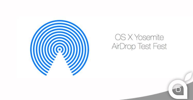 Apple invita gli utenti Apple Seeds a partecipare al test di Airdrop in preparazione all'uscita di Yosemite