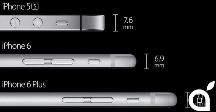 comparison iPhone 6 iPhone 6 Plus iPhone 5s