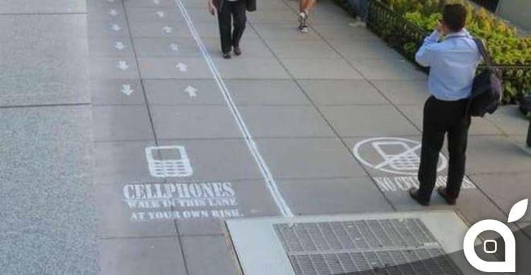 corsia-preferenziale-pedoni-smartphone