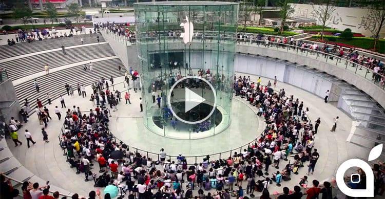 Ecco le lunghissime code per il lancio di iPhone 6 e 6 Plus in giro per il mondo [Video]
