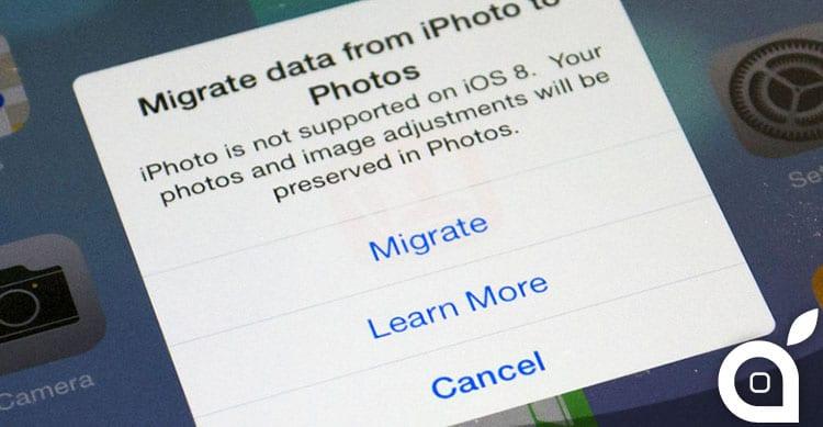 iOS 8 non supporta più iPhoto, le foto e gli album migreranno su Foto