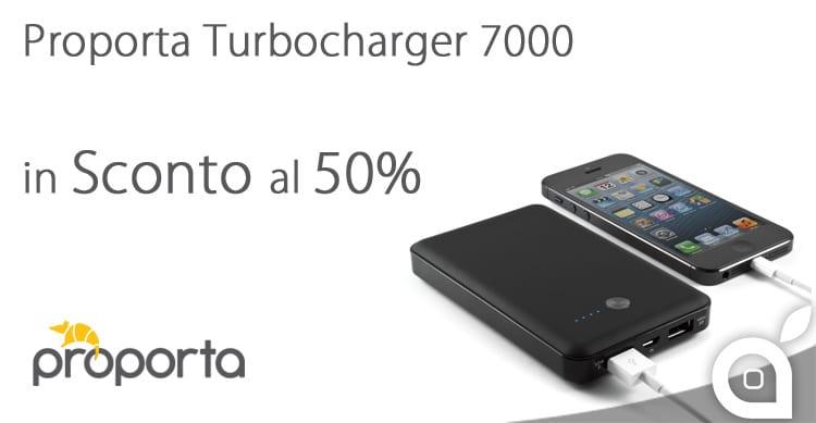 Batteria supplementare per iPhone ed iPad Turbocharger 7000 in sconto al 50%, solo con iSpazio