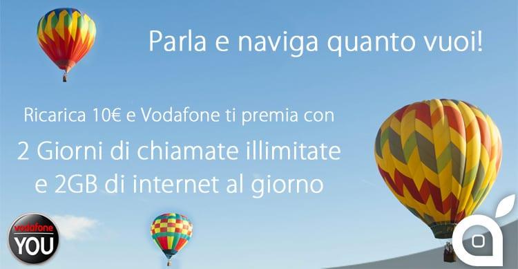 A settembre Vodafone regala 2 giorni di chiamate illimitate e 2GB di internet al giorno!