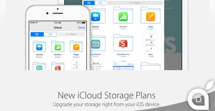 Apple abbatte i prezzi di iCloud: si parte da 20GB di storage a soli 0.99$