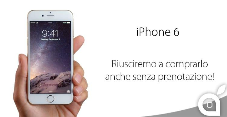 Non hai prenotato il tuo iPhone 6? Niente paura, ci sono scorte anche per chi si recherà fisicamente all'Apple Store!