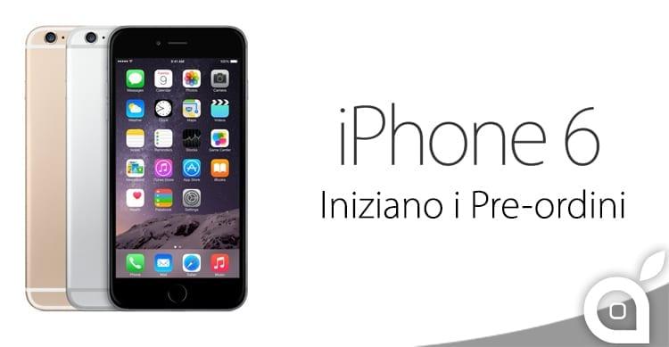 Iniziano ufficialmente i pre-ordini dell'iPhone 6 e iPhone 6 Plus in svariati Paesi