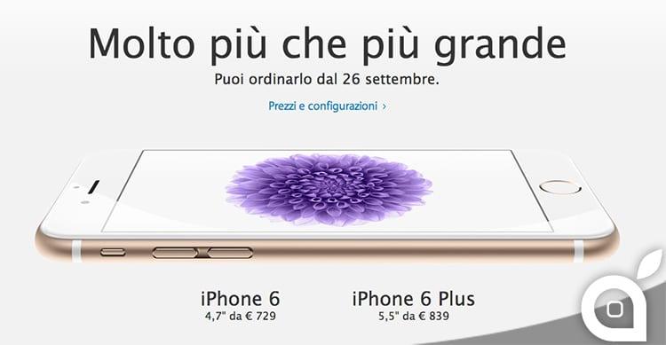 iPhone 6 ed iPhone 6 Plus: ecco la data ed i prezzi in Italia
