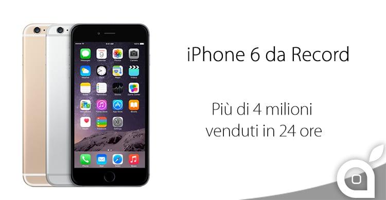 Ufficiale: Apple annuncia 4 milioni di iPhone venduti nelle prime 24 ore di preordine!