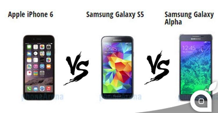 iphone 6 samsung galaxy s5 galaxy alpha