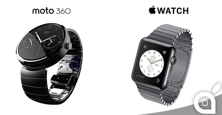 Moto 360 vs Apple Watch: La bellezza sta nel display rotondo?