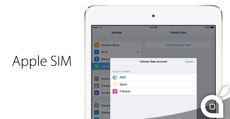 "Le versioni Cellular di iPad Air 2 e iPad mini 3 introducono la nuova ""Apple SIM"" integrata!"
