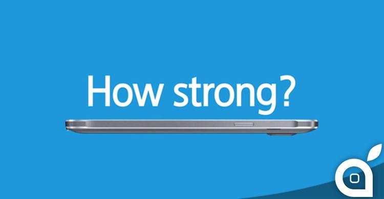 Samsung rilascia il suo video sul bend test di Galaxy Note 4 [Video]