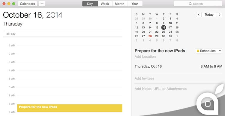 calendario oggi