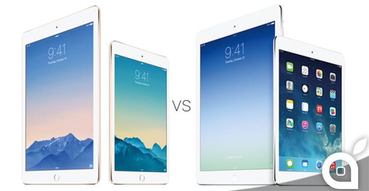 iPad Air 2 iPad mini 3 comparison