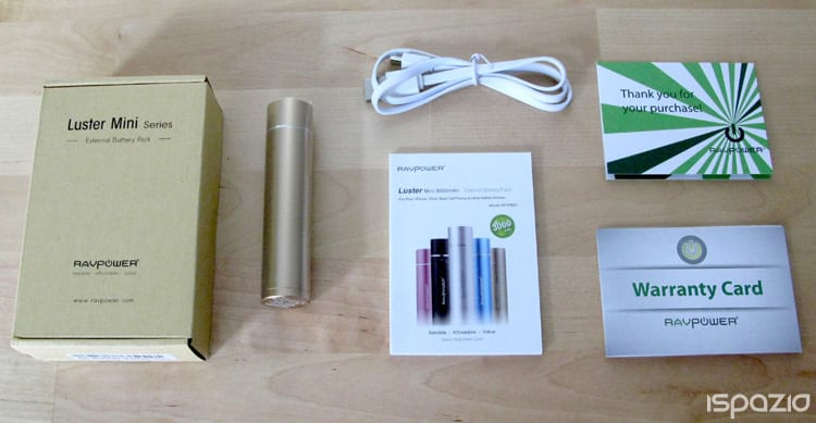 iSpazio-MR-RAVPower luster mini 3000-packaging