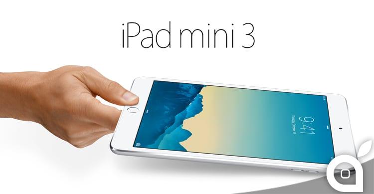Apple presenta ufficialmente il nuovo iPad mini 3