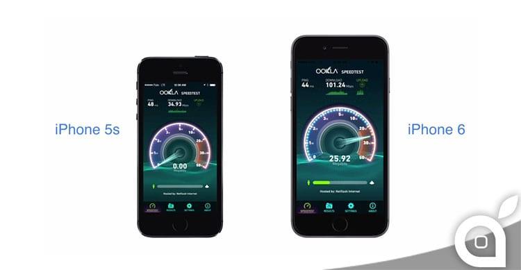 iPhone 5s e iPhone 6: il videoconfronto dell'LTE [Video]