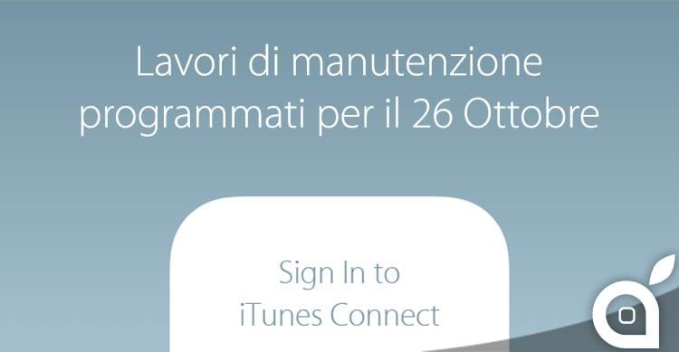 iTunes Connect: lavori di manutenzione programmati per il 26 Ottobre