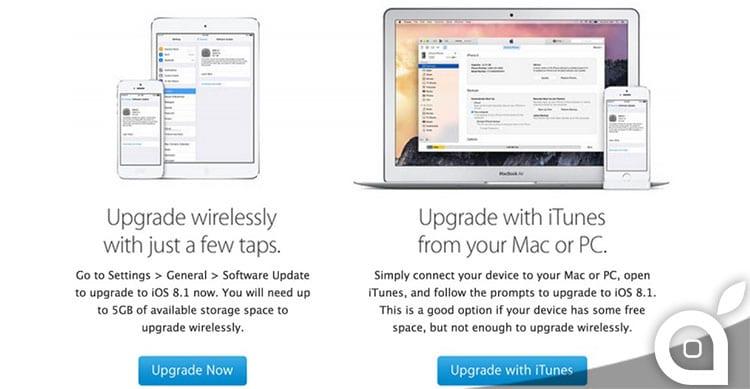 Apple invita gli utenti a mezzo email a passare ad iOS 8