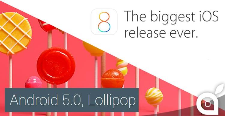Android Lollipop VS iOS 8: il confronto